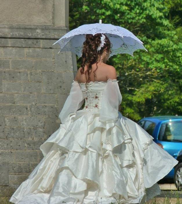 Свадьба - Wedding silk, chiffon and lace wedding fairy princess dress