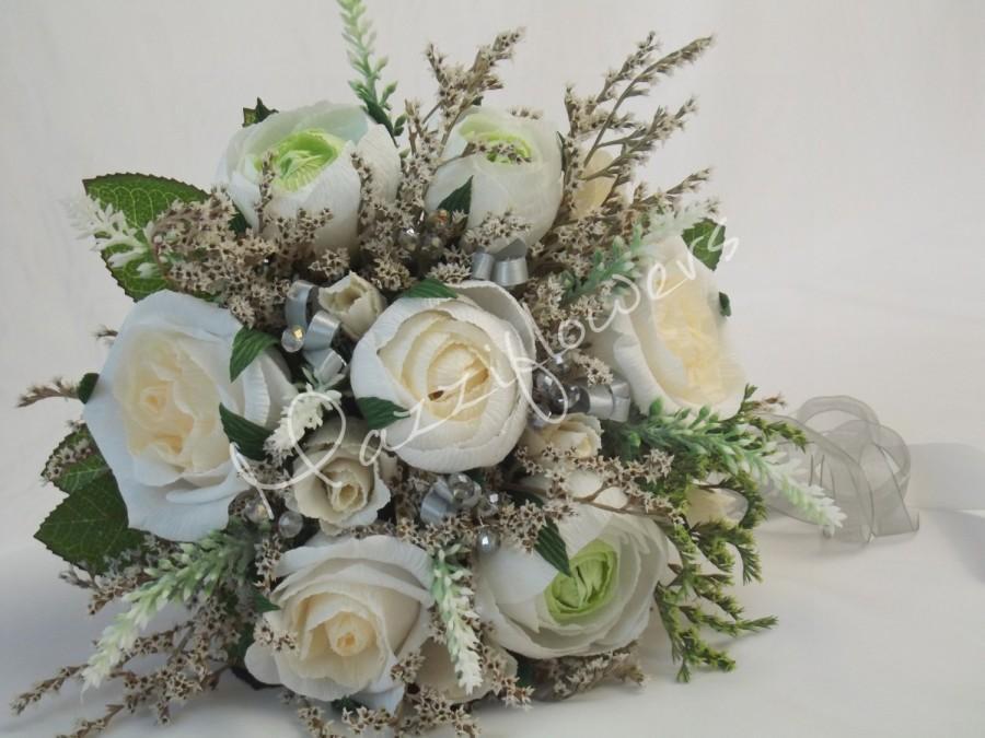 Wedding Bouquet,bridal Bouquet,paper Flower Bouquet,paper Flower ...