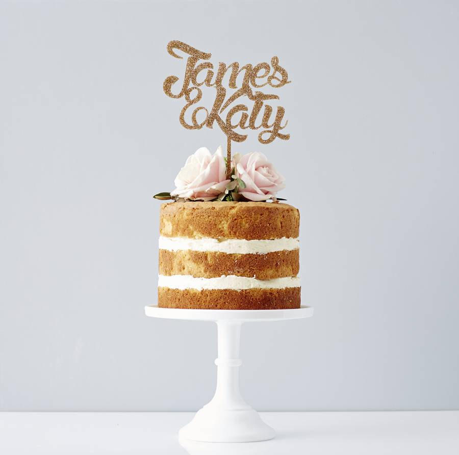 Mariage - Personalised Couples Wedding Cake Topper