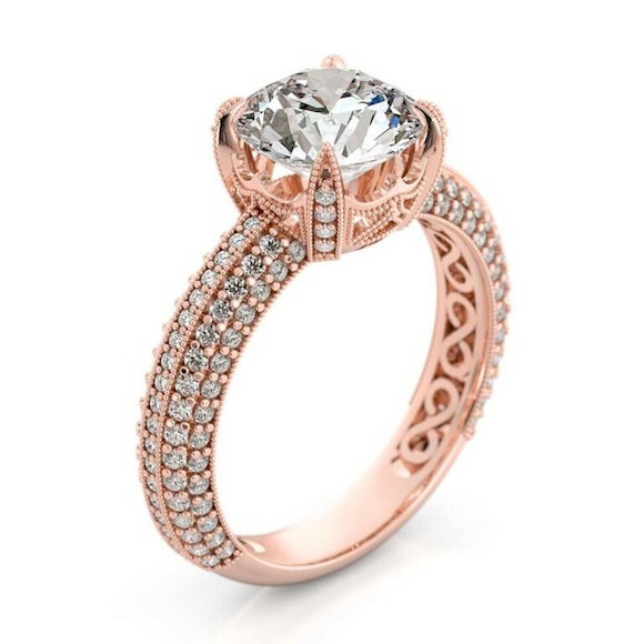 Wedding - Forever One Moissanite Engagement Ring