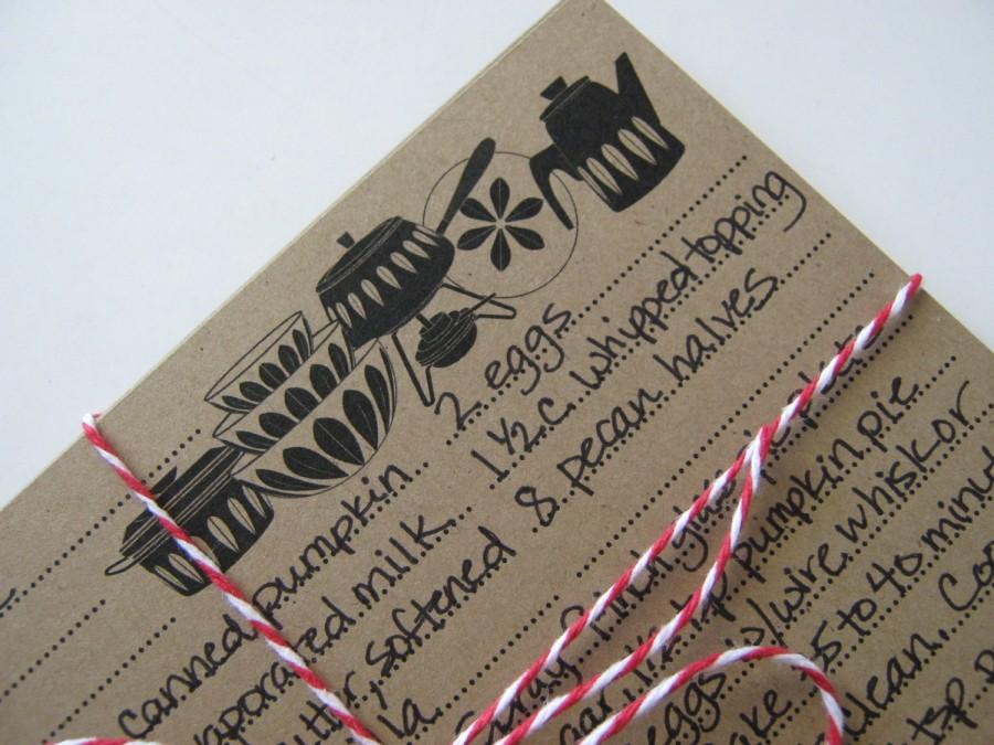 Bridal Shower Favor Recipe Cards Hostess Gift 4 X 6 Or 3 X 5 For The