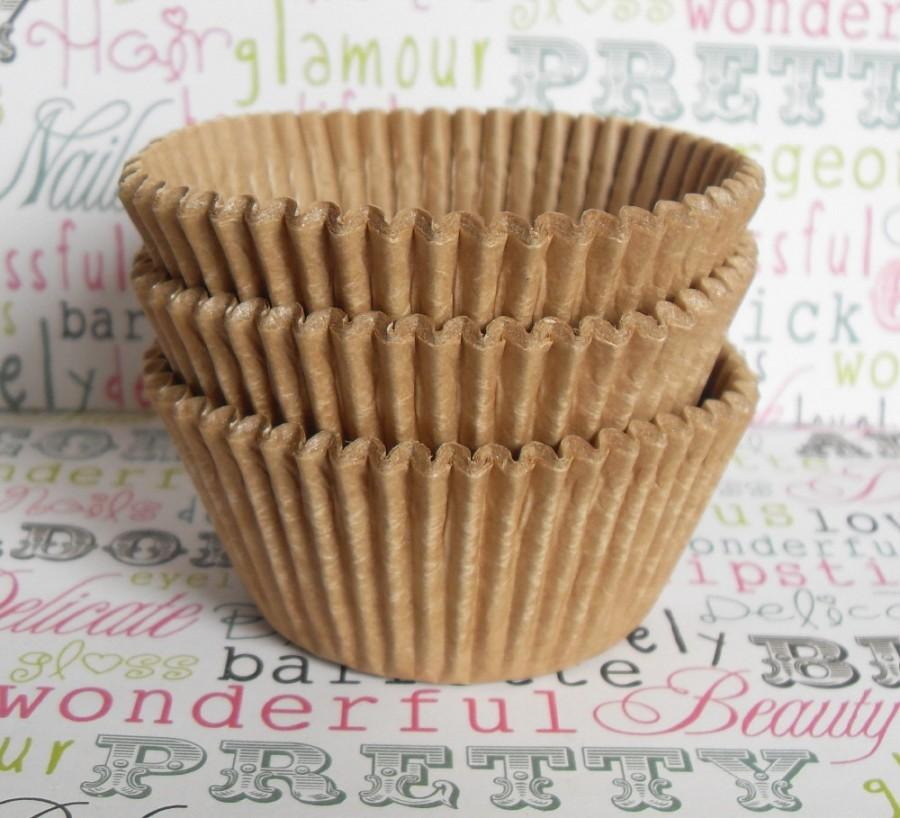 Свадьба - 50 Natural Unbleached Kraft Brown Cupcake Liners, Natural Unbleached Baking Cups - Kosher Certified, Professional Grade and Greaseproof