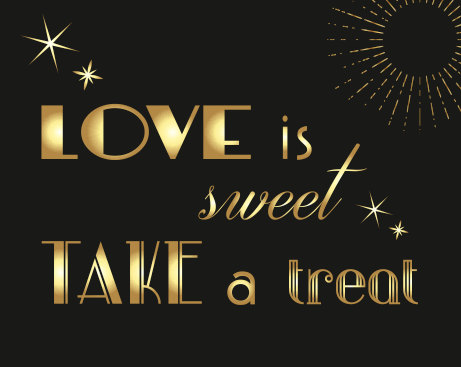 Свадьба - Gatsby themed dessert table sign #2 - Black and gold wedding - Great gatsby wedding - candy bar sin