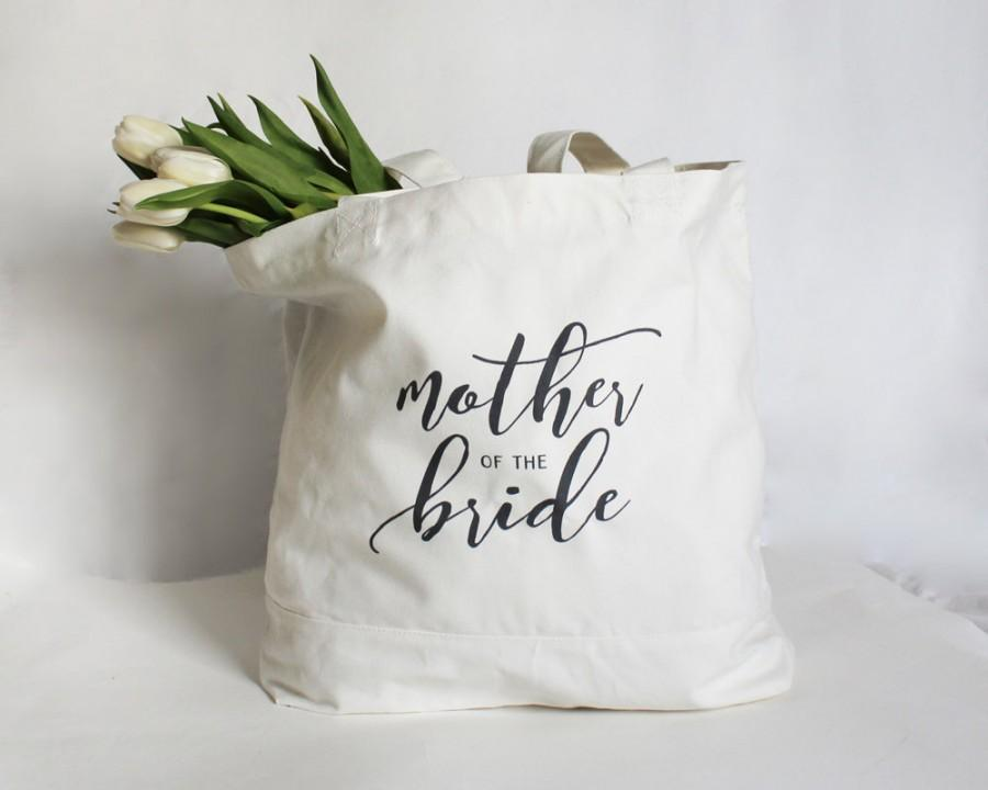 Wedding - Mother of the Bride Tote, Mother of the Groom Tote, Mother of the Bride Bag, Personalized Wedding Party Bag