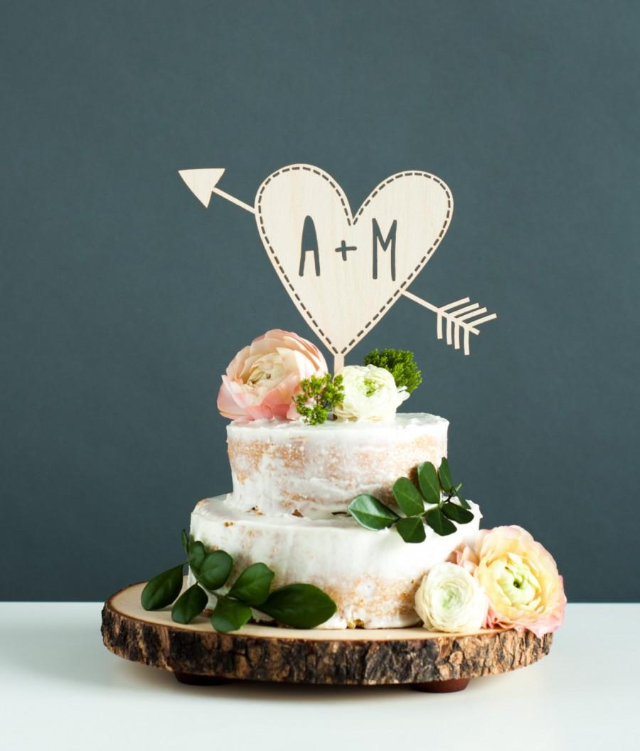 Custom Wedding Cake Topper With Initials