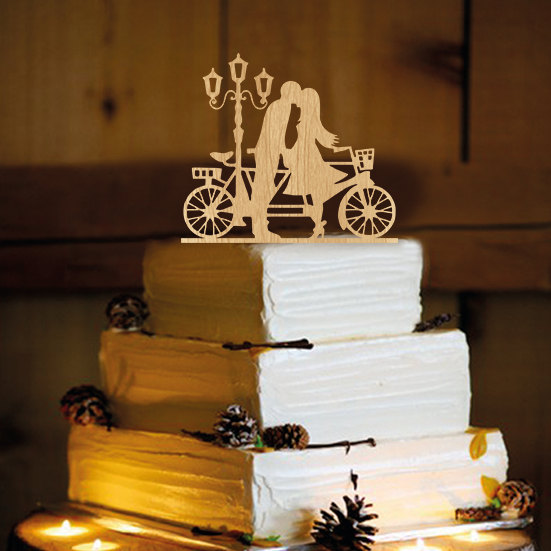 زفاف - Bicycle Cake Topper - Cake Topper - cake topper Bicycle - monogram cake topper - birthday cake topper - wedding cake topper