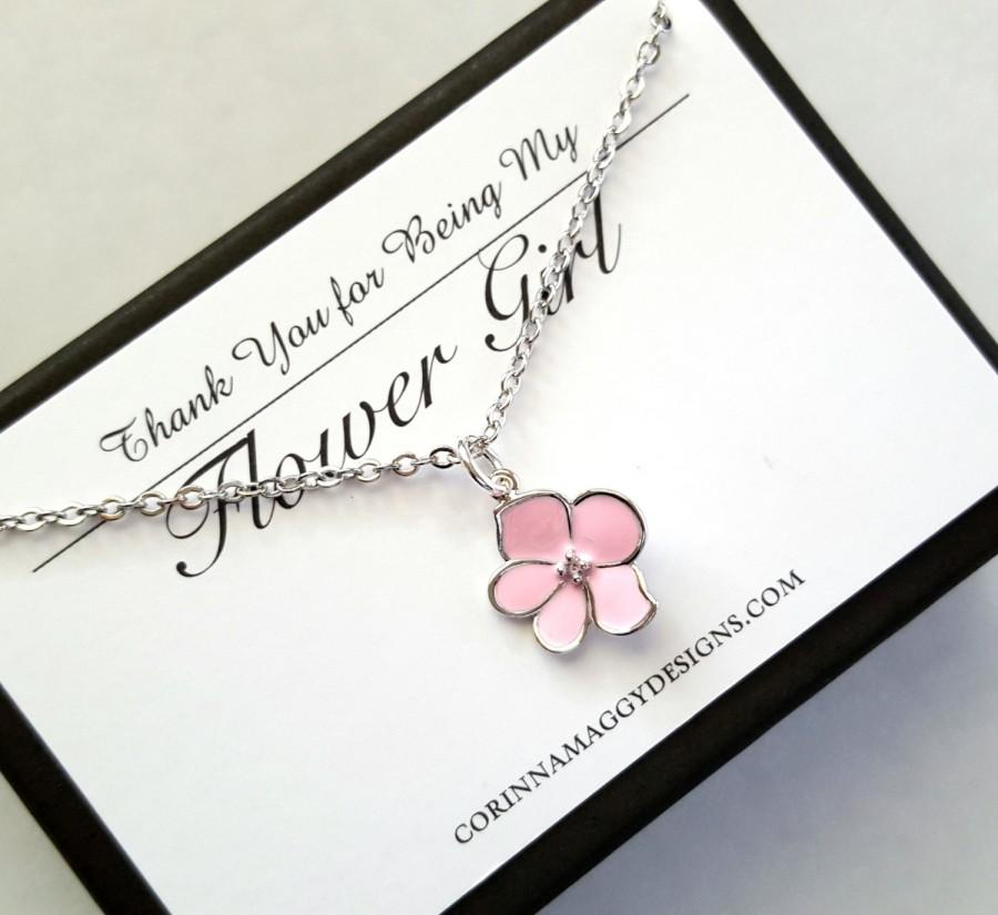 Flower Girl Necklace Flower Girl Gift Wedding Jewelry Wedding