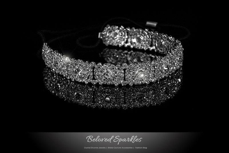 Hochzeit - Bridal Headband, Vintage Cluster Crystal Stretchable Headband, Rhinestone Headband, Bridesmaid Headband,Flowergirl Headband Hair Accessories