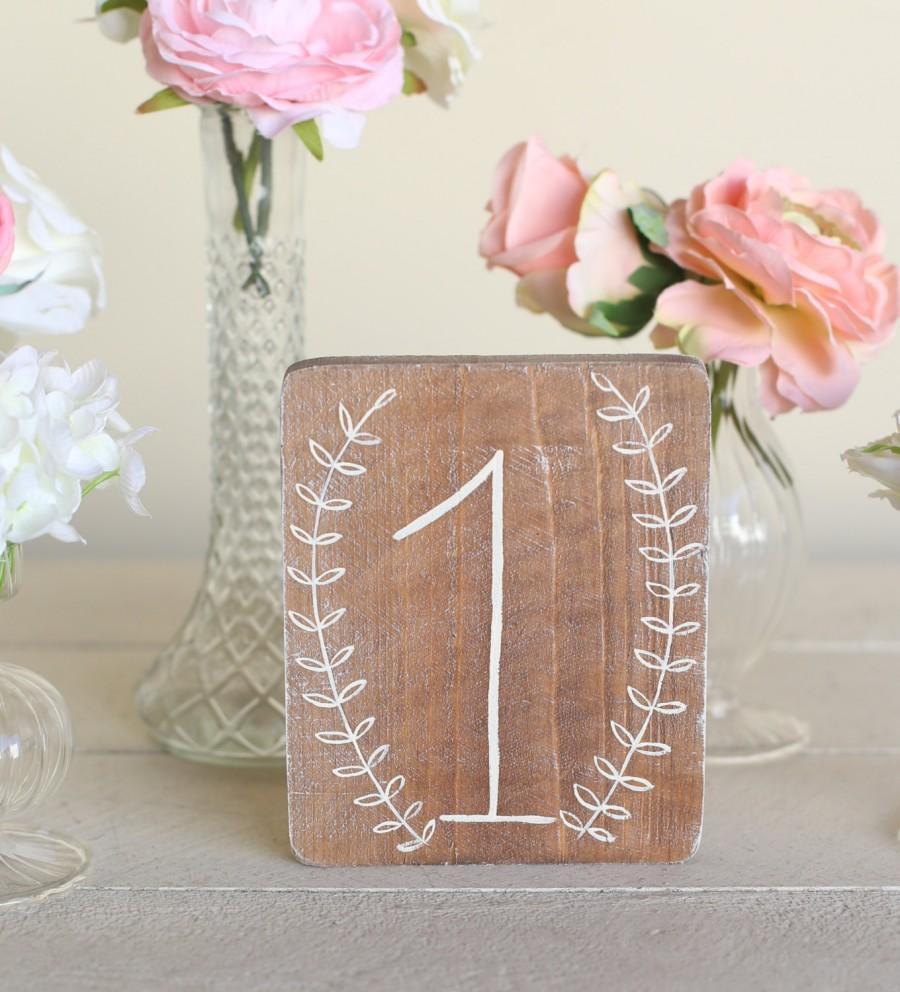 Wedding - Rustic Wedding Table Numbers (Item Number MHD100002) Morgann Hill Designs