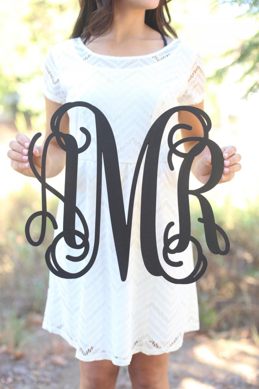 Свадьба - Personalized Rustic Wood Monogrammed Sign by Morgann Hill Designs   (Item Number MHD20240)