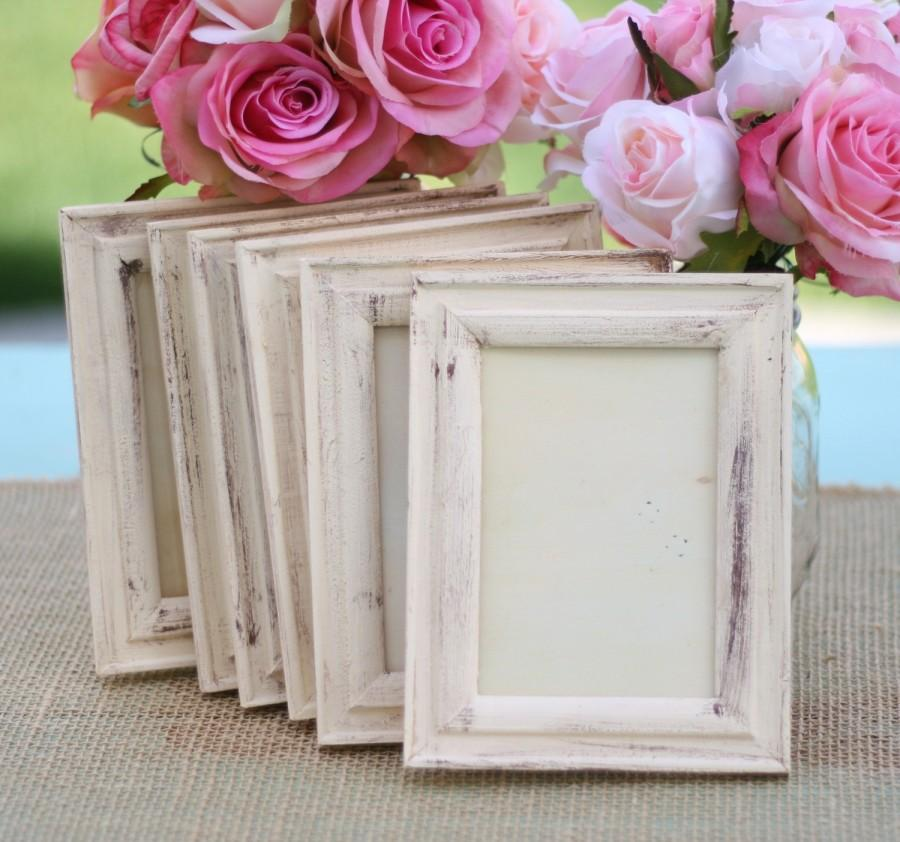 Hochzeit - Wedding Frame Shabby Chic Rustic Distressed Paint (item P10332)