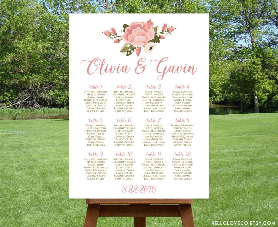 PRINTABLE Floral Wedding Seating Chart