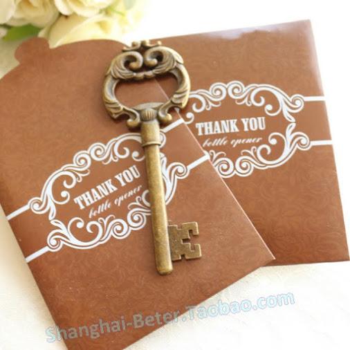 Mariage - 歐式 婚禮小禮品 #復古金 浪漫婚禮金鑰匙 #開瓶器 BETER-HH030結婚周年派對禮物...