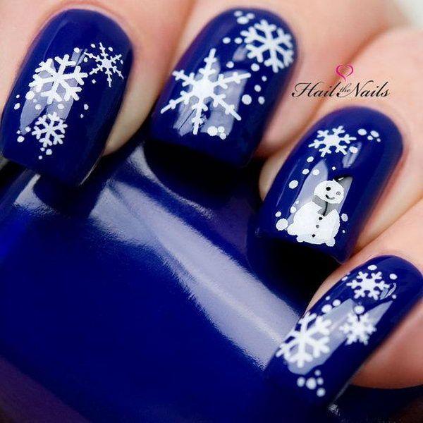 20 Cool Snowflake Nail Art Designs - Nail - 20 Cool Snowflake Nail Art Designs #2505334 - Weddbook