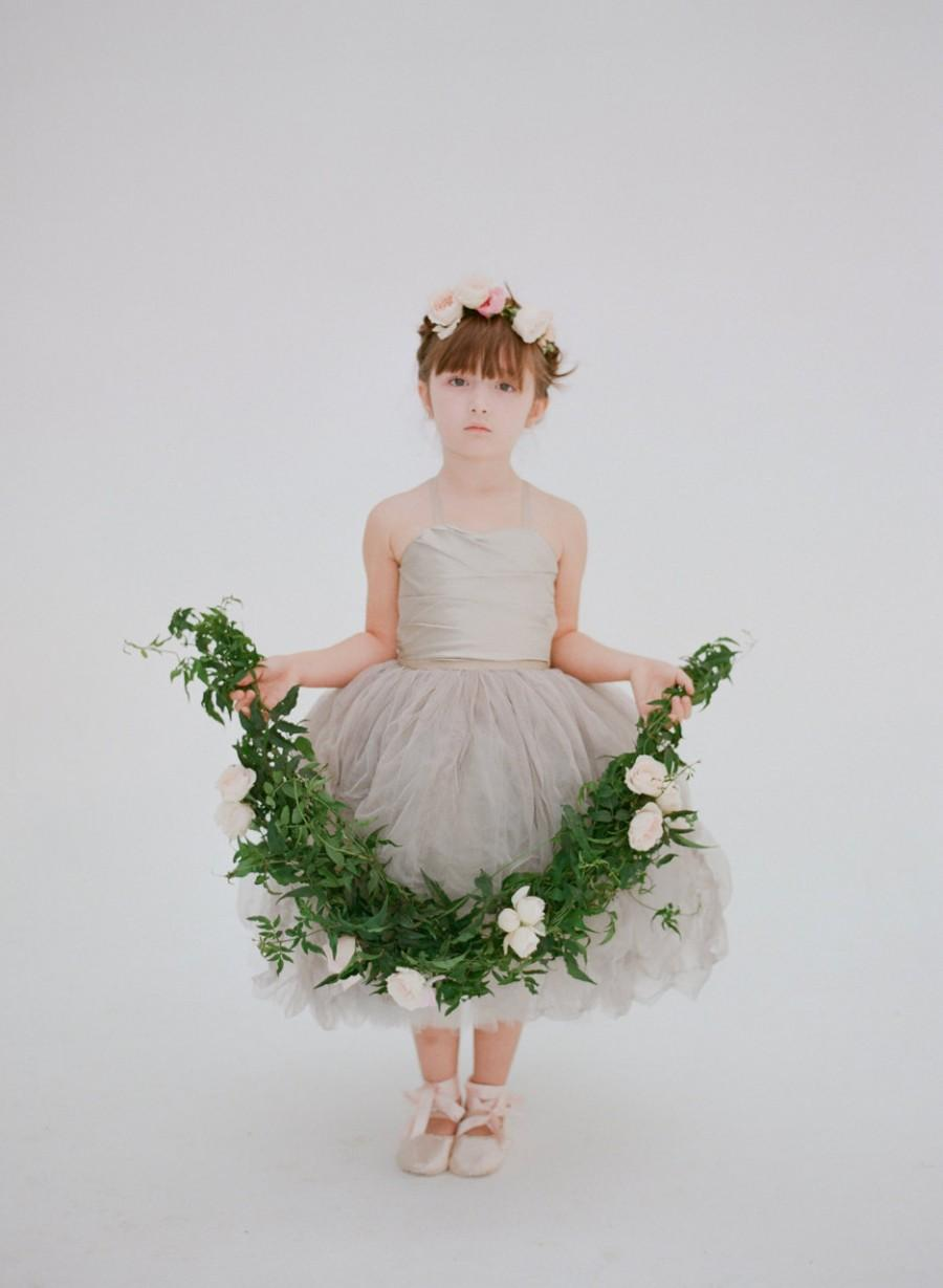 Hochzeit - The Lauren Flower Girl Dress- Dove Grey (More Colors Available)