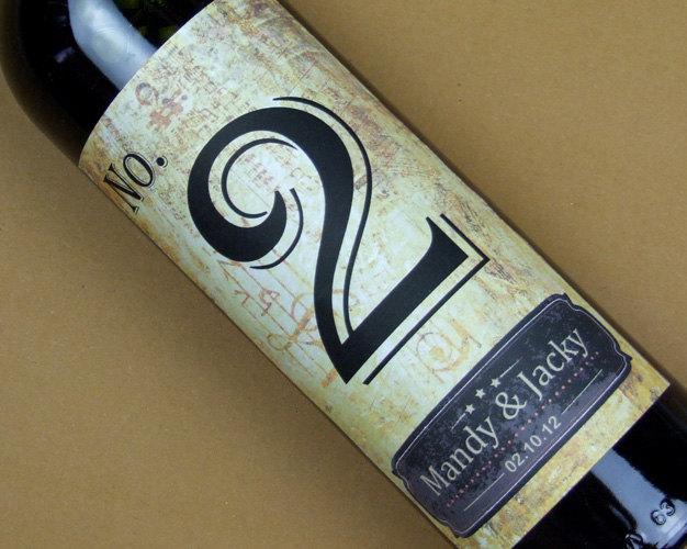 Wedding - Custom Wedding Wine Label, Personalized wine Label, wedding Wine bottle label, Table number wine label-014