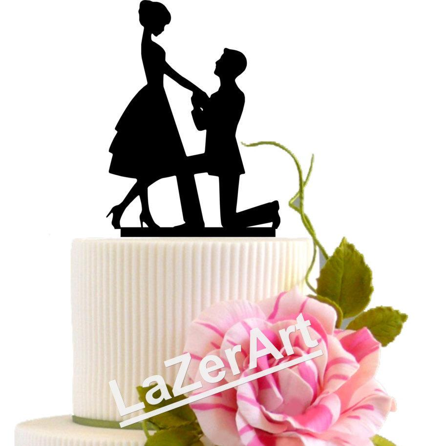 Свадьба - Wedding Proposal Cake Topper