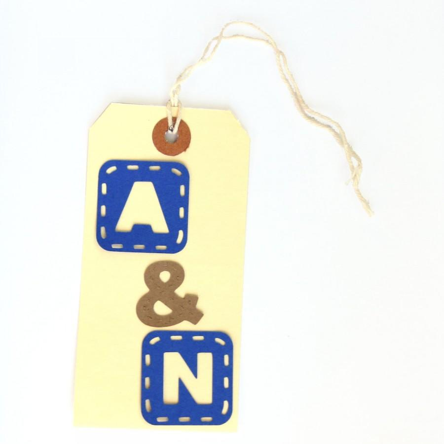 Initial Wedding Favor Tags Monogram Favors Bride And Groom Initials Gift Extra Large Personalized Custom