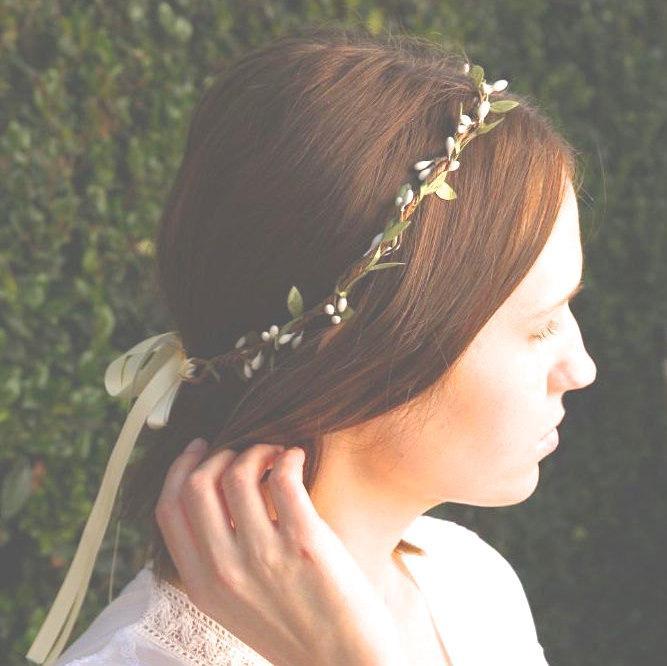 Hochzeit - Woodland wreath - Rustic circlet - Simple wedding hair - Bohemian bridesmaids - Woodland halo - Bridal headpiece - Boho wreath - boho bridal