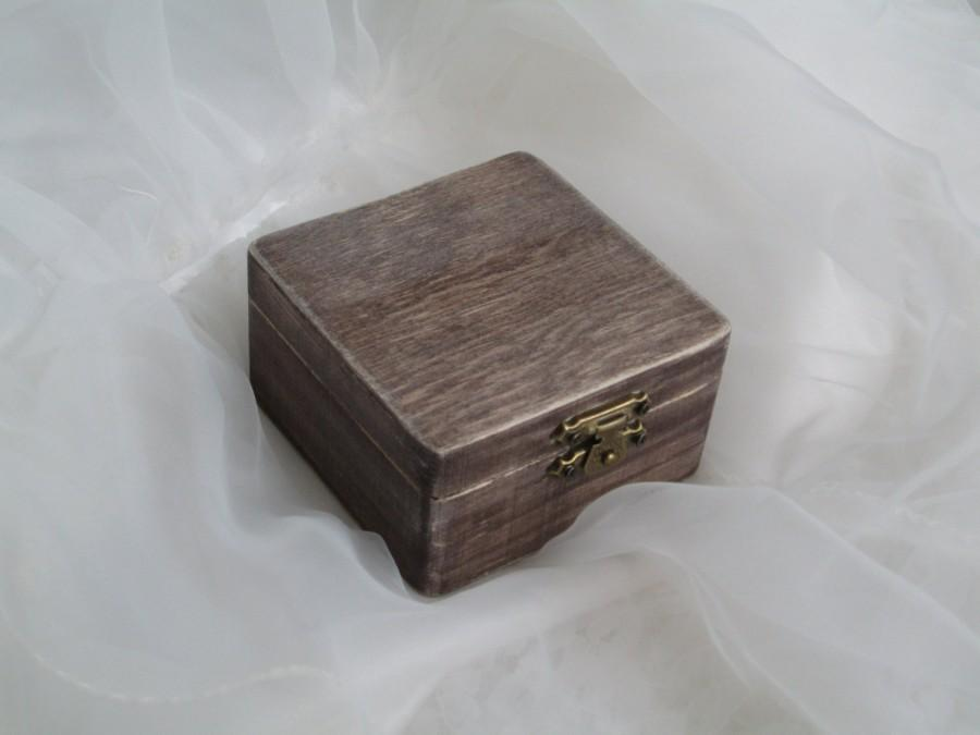 Wedding - Ring Bearer Box, Rustic Wedding Box Under 20, Vintage Jewelry Box, Country Wedding, Old Driftwood Box