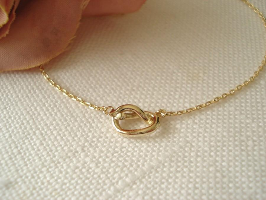 Tiny Gold Knot Necklace..simple Handmade Jewelry, Everyday, Bridal ...