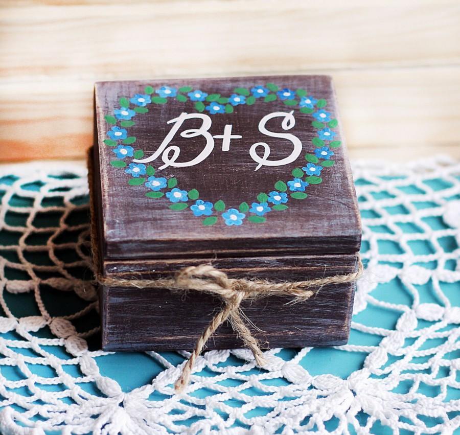 زفاف - Rustic ring box, Personalized Wood Box, rustic wedding box, Ring Bearer Box Wedding Ring Box , Rustic Wood Box, Custom Ring Box, wedding box
