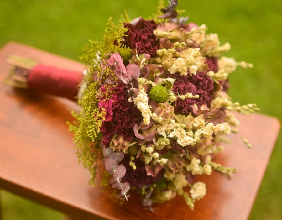 Mariage - Marsala and cream bridal bouquet, hydrangea bridal bouquet, burgundy, fall bridal bouquet, fall wedding, fall bouquet, autumn wedding