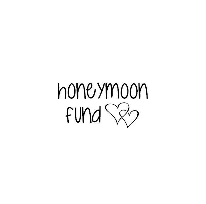 Honeymoon Fund Decal, Wedding Fund Decal, Honeymoon Jar ...