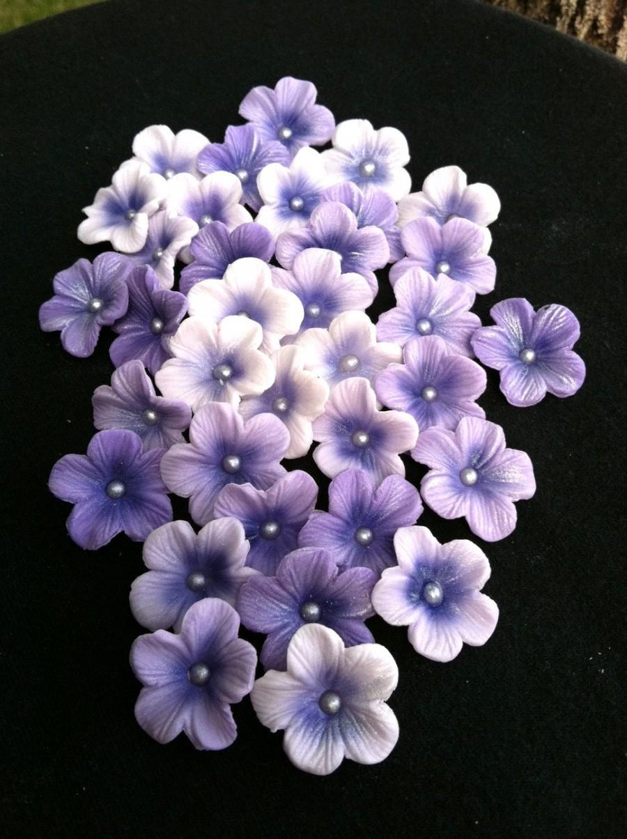 Gumpaste Blossoms Diffe Shades Of Purple Gum Paste 25 Piece Set