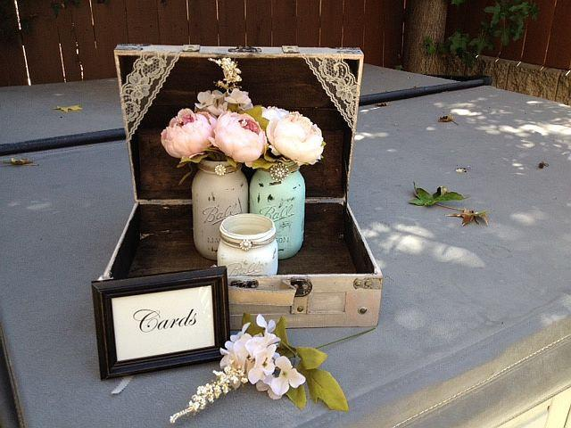 Rustic Ivory Small Wedding CardPrograms Box With Cards Frame – Picture Frame Wedding Card Box