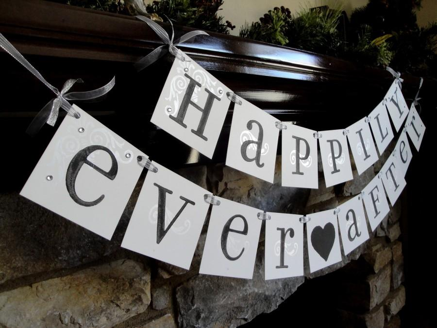 Mariage - HAPPILY Ever AFTER sign, wedding banner...CUSTOM colors wedding sign