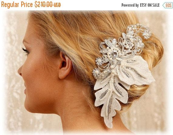 Свадьба - Bridal hair flower, Bridal headpiece, pearl crystal hair pin, Bridal Hair pin, Wedding accessory, wedding hair pin