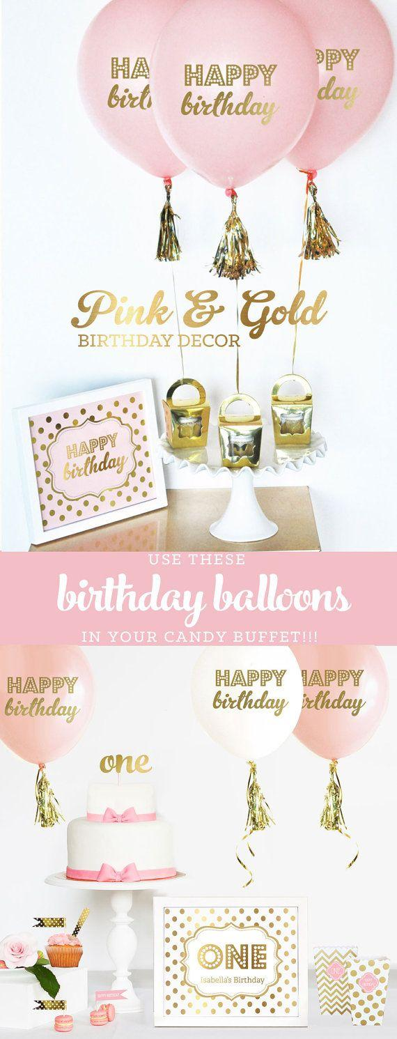 Pink And Gold Birthday Decorations Pink And Gold First Birthday