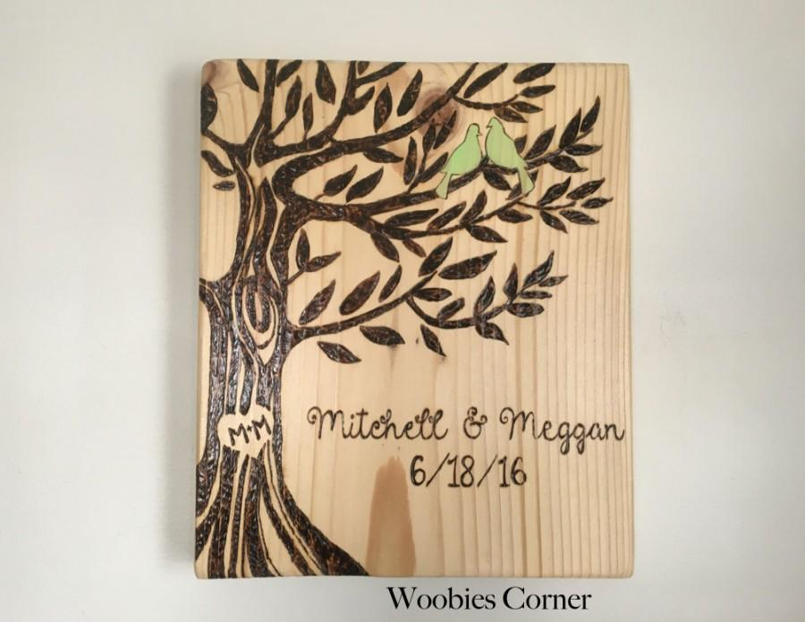 Personalized Wedding Gift Custom Sign Rustic Family Elished Wood Burned