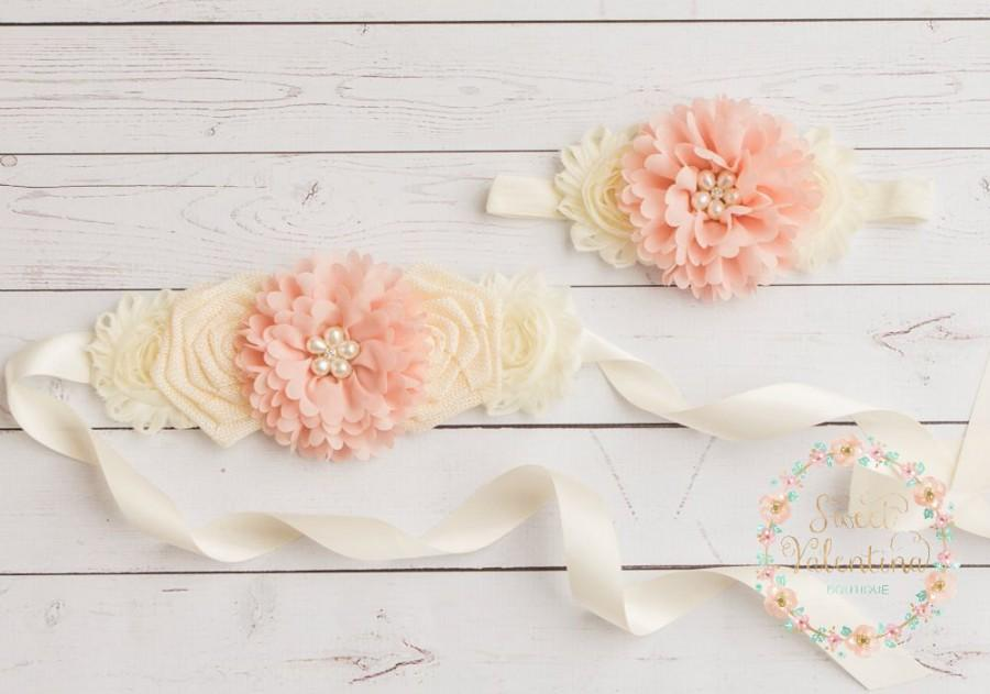 Rustic Flower Girl Sash 94697066cd3