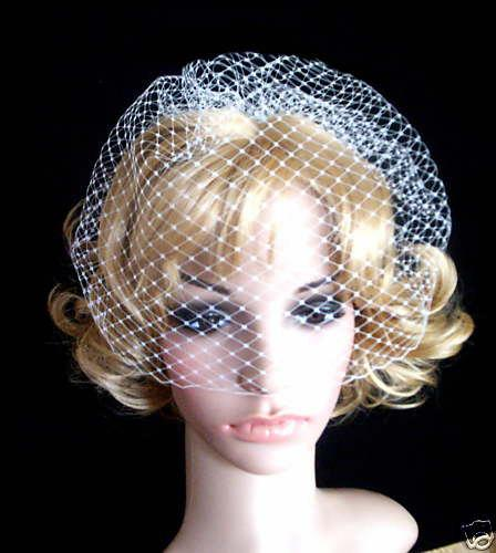 Hochzeit - FRENCH IVORY white Rusian Veiling  Blusher Wedding Veil with Comb Ready to Wear