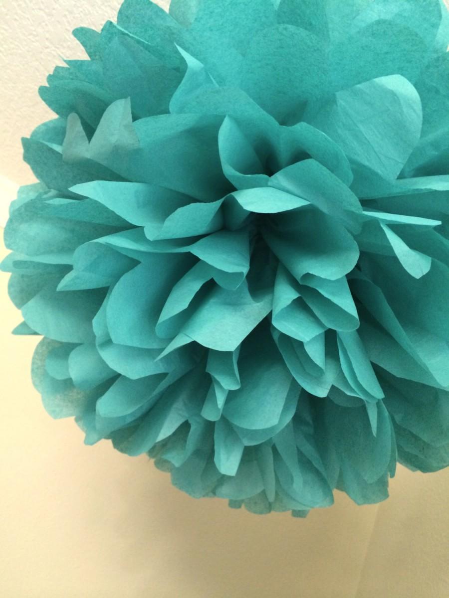 Sea Green 1 Tissue Paper Pom Wedding Decorations Wedding Poms