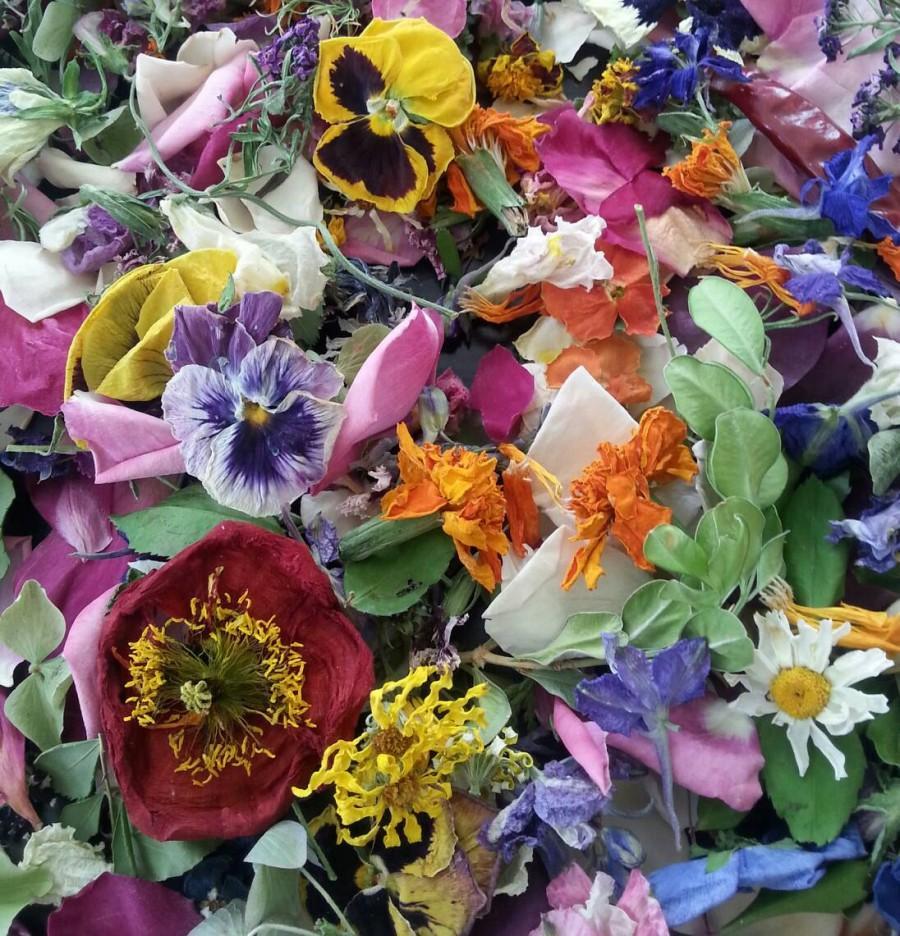 Dried Flowers Confetti Flower Petals Biodegradable Wedding Decorations Basket Aisle 4 Us Cups