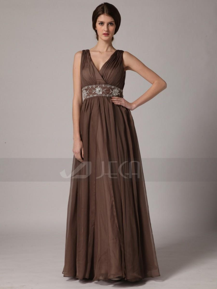 Hochzeit - A-line V Neckline Bridesmaid Dress Formal Dress Mother of Bride Dress Available in Plus Sizes B431