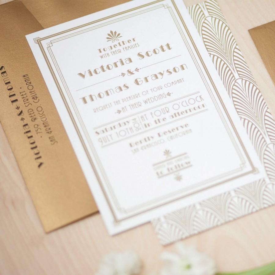 Art Deco Wedding Invitation: Art Deco Wedding Invitation #2506317
