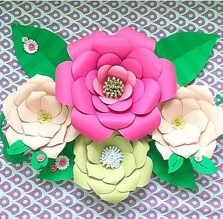 Mariage - DIY Large Paper flower templates, Paper flower kit, Paper flower SVG files, Large paper flower templates, Backdrop flowers