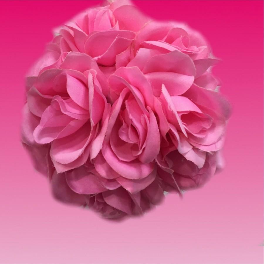 Pink Wedding Flower Kissing Ball ,white Pomander, White Wedding ...