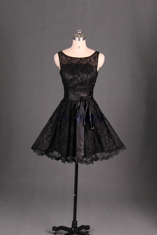 Short lace bridesmaid dress in black cute women gowns for for Wedding dress for sale cheap