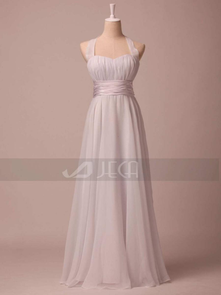 Свадьба - Halter Neckline Simple Wedding Dress Beach Wedding Dress Casual Wedding Dress Summer Wedding Dress W791