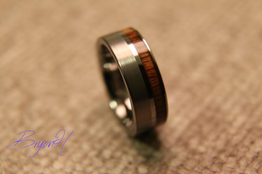 Свадьба - Wood Tungsten Carbide ring, wood tungsten wedding band, tungsten wedding bands with Inlay wood, wood ring for man woman, 8mm 6mm
