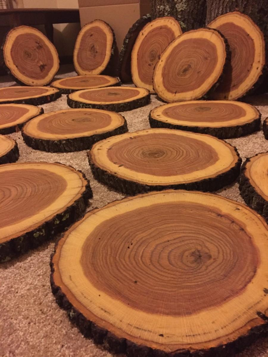 Huge sale wood slices centerpieces
