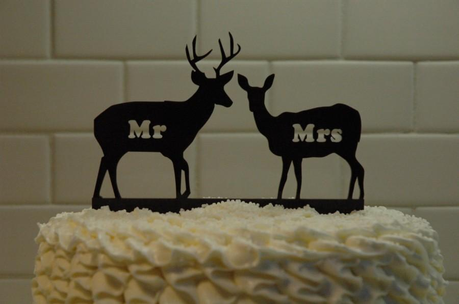 Свадьба - Deer Wedding Cake Topper - Mr & Mrs - Country Wedding -  rustic - shabby chic- redneck - cowboy - outdoor - western - acrylic