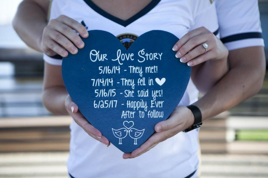 Mariage - Customize YOUR Love Story! - Personalized Gift - Engagement Photo Prop - Photo Prop - Anniversary Gift - Wedding Gift