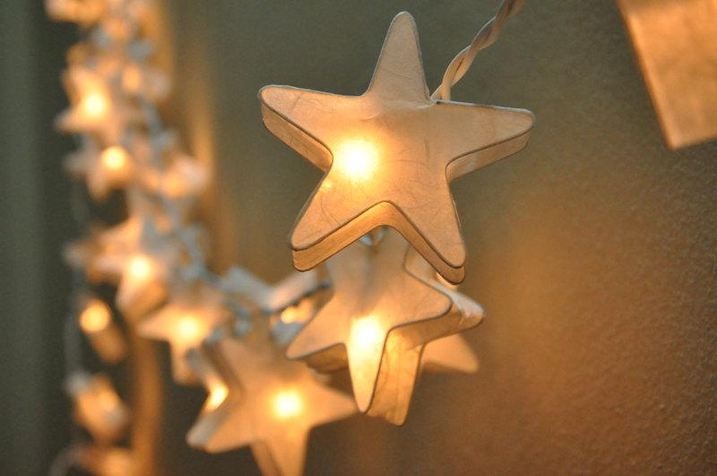 Wedding - 35 White Star Lantern String Lights for Decoration Living Room,Bedroom, Wedding ,Patio Party Indoor and Outdoor