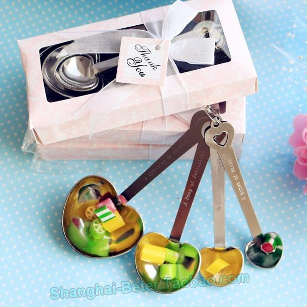 Mariage - Bridal Crafts WJ005/B Sugar Measure Spoons Wedding souvenirs BETER-WJ005